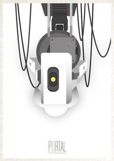 portal minimalist poster