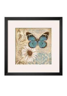 Art.com  Butterfly Garden II Framed Art Print - Online Onlybr