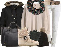 Pour une femme à la mode! Ici pour la tenue: http://www.stylefru.it/s160080 #bottes #manteau
