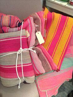 Vintage Bolivian blankets; now at Storie, Paris.