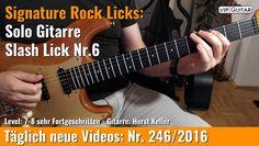 ✪ Signature Rock Licks ►Solo Gitarre - Slash Lick Nr.6