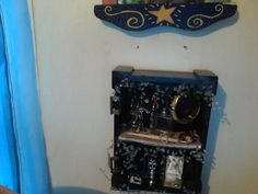 """another """"drawer"""" shadow box that I made out of part of an old foot rest"""