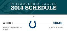 2014 Schedule Wk2: Colts MNF
