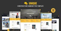 UNIQUE - Construction Company PSD Template - Corporate PSD Templates Download here : https://themeforest.net/item/unique-construction-company-psd-template/19177420?s_rank=160&ref=Al-fatih