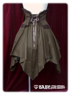 Pirates corset skirt
