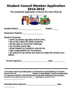 Student Leader Application