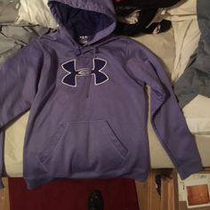 Under armour hoodie Purple under armor pullover hoodie like new worn a few times Under Armour Sweaters