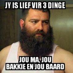 Real love #baard #bakkie #moeder - Enjoy the Shit South Africans Say! #CapeTown #africa #comedy #humor #braai #afrikaans