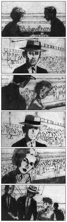 Storyboards de 12 películas clásicas de Hitchcock