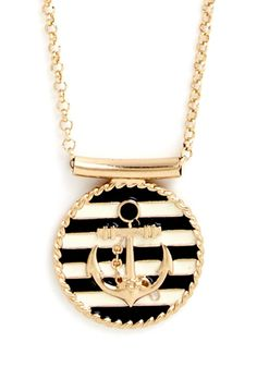 Maritime Morning Necklace | Even in a landlocked location, you can channel the channels with this anchor pendant necklace!
