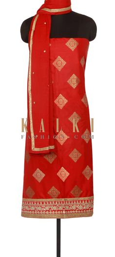 Maroon unstitched suit adorn in zari and sequin only on Kalki