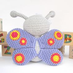 Ravelry: Crocheted butterfly - Anthropomorphized butterfly - Amigurumi tutorial with photos - Stuffed animal pattern - Baby shower pattern by Kristi Tullus