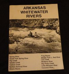 Arkansas Whitewater Rivers Guide Vintage Book by CoolCoolVintage, $7.00