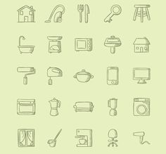 100 Handmade Icons About Home Stuff Icons Free Graphic Design Hand-Drawn Icon PNG Resource SVG Vector