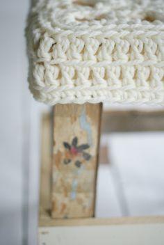 cute crochet stool