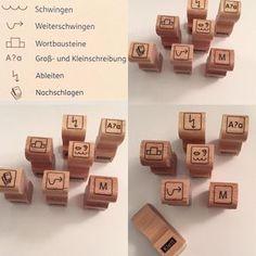 """Gefällt 201 Mal, 22 Kommentare - Froileins Kunterbunt (@_froileinskunterbunt) auf Instagram: """"Meine neuen Stempel.... Nächste Woche starten wir mit der """"Wörterklinik"""" und diese Zeichen sollen…"""""""
