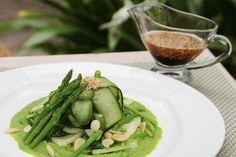 Asparagus, Cucumber, Pak Choi Salad