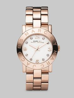 MARC JACOBS  SEE MORE DETAIL :Rose Gold Finished Stainless Steel Bracelet Watch