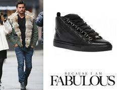 Shop Celebrity Closet: Scott Disick Balenciaga Arena High Sneakers - http://www.becauseiamfabulous.com/2014/01/scott-disick-balenciaga-arena-high-sneakers/