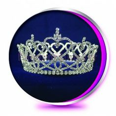 The Round Teresa - Pageant Crown or Wedding Princess Tiara (Homecoming, Prom, Bridesmaid, Birthdays, Bachlorette, etc)