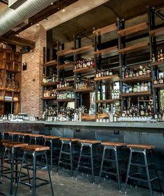Affordable Masculine Bar Cart Design Ideas - lmolnar - Best Design and Decoration You Need Pub Design, Back Bar Design, Bar Counter Design, Sport Bar Design, Pub Interior, Bar Interior Design, Showroom Design, Rustic Restaurant Interior, Barra Bar