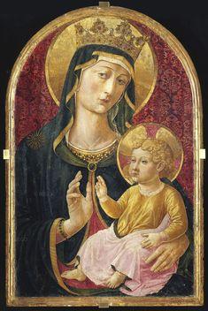 Benozzo Gozzoli - Madonna con Bambino - tempera su tavola centinata -1490-1495 - Pieve di Calci .