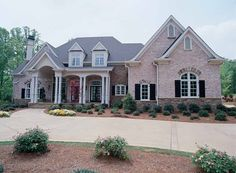 French Country House Plan with 5845 Square Feet and 4 Bedrooms from Dream Home Source | House Plan Code DHSW43141