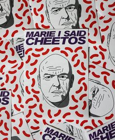 Breaking Bad sticker  Hank Schrader  Marie I said by bestplayever, £1.50