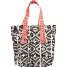 Billabong Junior's Absolute Wander Shoulder Bag, White Cap, One Size. Custom yarn dye jute shoulder bag with novelty straps. Zip closure and padded laptop sleeve. Size 15.5 x 19 inch.