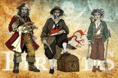 #Pirates drawing & digital painting