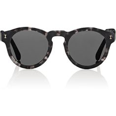 Illesteva Women's Leonard I Sunglasses ($177) ❤ liked on Polyvore featuring accessories, eyewear, sunglasses, glasses, multi, tortoise shell sunglasses, round glasses, keyhole glasses, tortoise sunglasses and round sunglasses