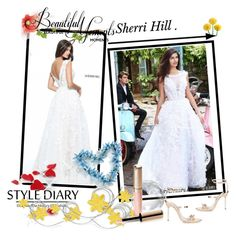 """2017 Newest Sherri Hill Prom Dress 51099 Ivory Lace Gown"" by chicpromdress ❤ liked on Polyvore featuring Sherri Hill, Sophia Webster and By Terry"