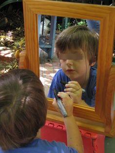 Dry erase mirror