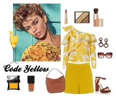 """""""Code Yellow"""" by anny-643 ❤ liked on Polyvore featuring A.L.C., self-portrait, NEST Jewelry, Dolce&Gabbana, Elizabeth Arden, Eve Lom, Alexandre Birman, Etro, Illamasqua and Gucci"""