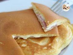 Croque pancakes, Photo 2 Sour Cream Pancakes, Greek Yogurt Pancakes, Coconut Flour Pancakes, Gluten Free Pancakes, Tasty Pancakes, Homemade Pancakes, Meals Under 200 Calories, German Pancakes Recipe, Light And Fluffy Pancakes