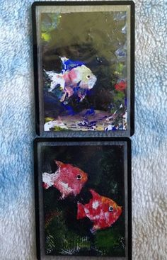 Some fish I painted in 2011. http://www.ebay.com/itm/141063481167