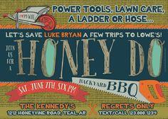 Honey Do BBQ  Shower Invitation  Digital or by southernbellavita, $16.00