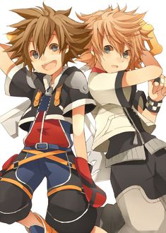 The two sides of the Keyblade Wielder. (Wielder, not master. Riku is a master, not Sora.)
