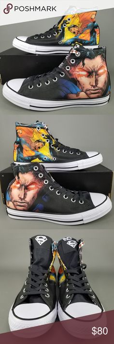 bd217b56e Converse CTAS x DC Comics Superman Shoes M 8 W 10 Converse Chuck Taylor All  Star