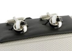 Black and White Knot Classic Cufflinks