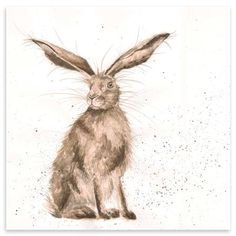 Hannah Dale - Good Hare Day, Mounted Art Print, 42 x 42 cm