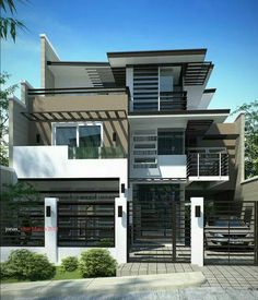 Q and A with Visualizer: Jonathan Pagaduan Ignas Hello everyone! Welcome again to our next episode of Questions and Answers time with som. Facade House, House Facades, Floor Space, Luxury Apartments, Modern Contemporary, Tiny House, House Plans, House Design, Flooring