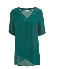 Crossover Hem Tunic, Turquoise #rickis #fall2016 #rickisfashion #turquoise…