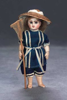 View Catalog Item - Theriault's Antique Doll Auctions Steiner Bebe ready for the beach or sports