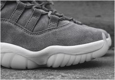 764196549dbda Nike Air Jordan XI 11 Premium Suede Cool Grey Men Shoes 914433-0032 Womens  Jordans