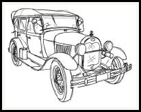 free digital stamps | objects  Vintage car