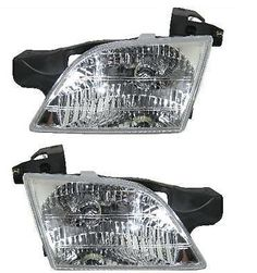 Headlights Headlamps Left & Right Pair Set for Chevy Venture Montana Silhouette #AftermarketReplacement