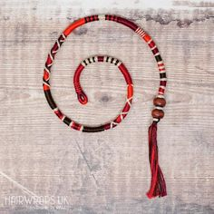 Removable Brown, Black and Red Hair Wrap with Wooden Beads – Toadstool. Glitter Hair, Black Glitter, Hippie Hair, Bohemian Hair, Dread Wraps, Different Shades Of Red, Black Hair Extensions, Wrap Pattern, Charm Rings