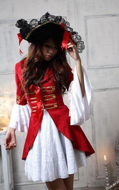 Aliexpress.com : Buy 2013 New Women Pirate Halloween Cosplay Costumes Dress Lace Up Ruffle Off Shoulder With Hat Wholesale Reatil Free Shipping from Reliable Red Halloween Women female Pirate costume Dress 2013 suppliers on C  F Halloween Fashion Store $21.99