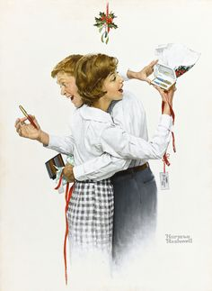 rockwell norman they gave each | illustration | sotheby's n09563lot76zwfen